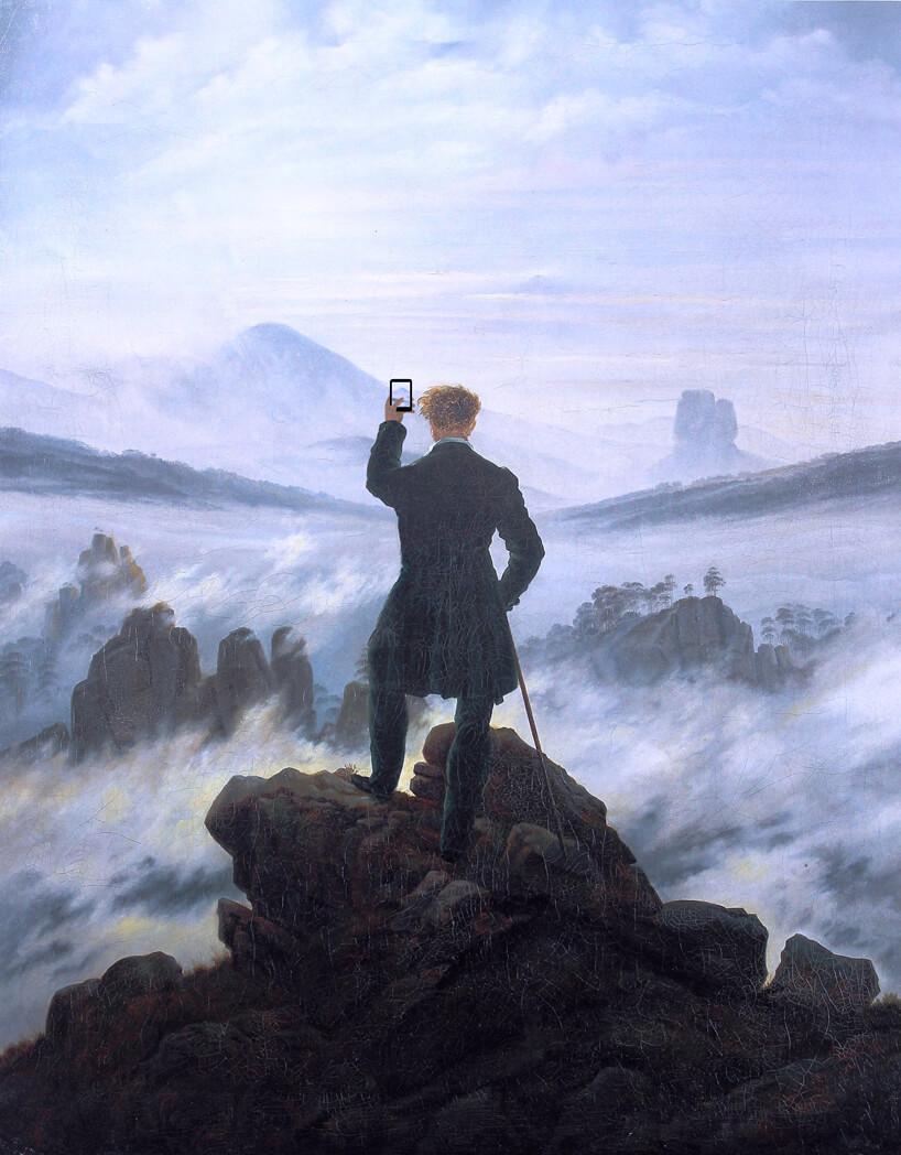 Il Viandante sul mare di Nebbia di Friedrich